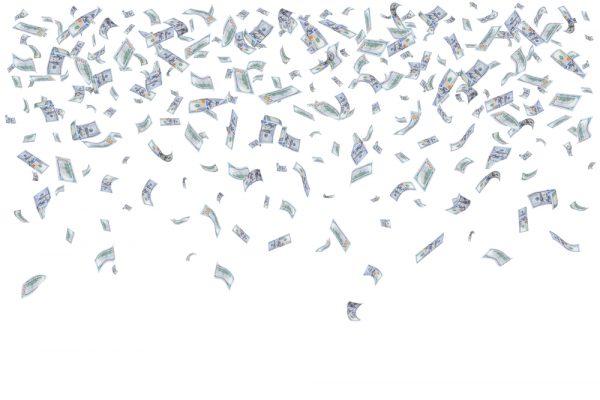 Pengaregn över fyra forskare