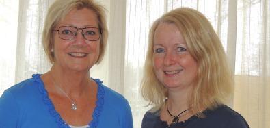 Inger Linderoth, t h,  och Annika Larsson, Djursjukhuset Karlstad.